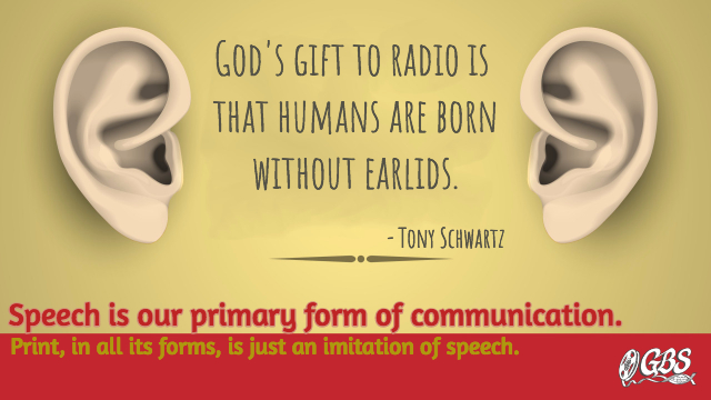 God's Gift to Radio Advertising: Humans Don't Have Earlids